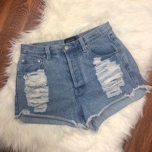 Mink Pink High Rise Slasher Shorts